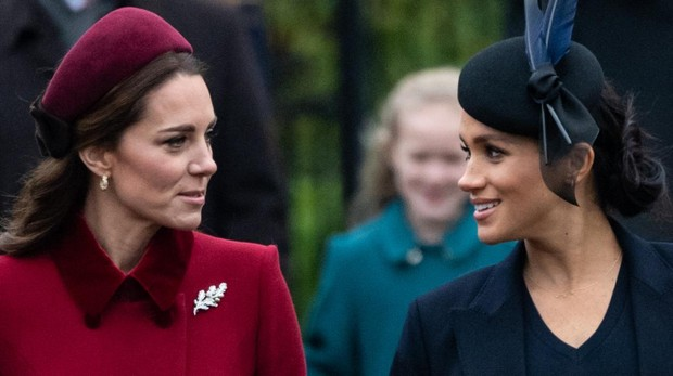 Catalina de Cambridge y Meghan Markle