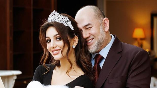 Mohamed V de Kelantan y Rihana Oksana Petra