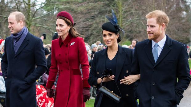 El Príncipe Guillermo, Catalina de Cambrigde, Meghan Markle y el Príncipe Harry