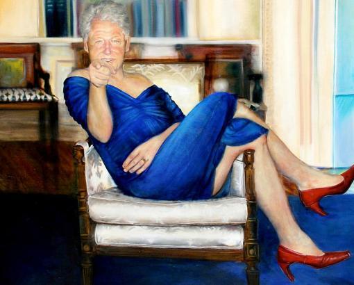 Cuadro en el que aparece retratado el expresidente Bill Clinton