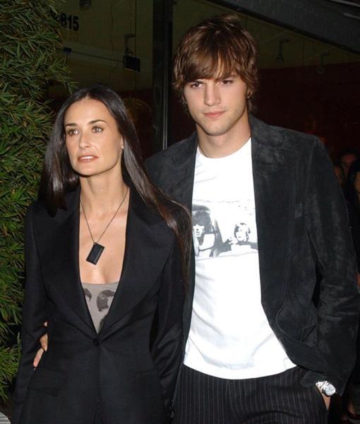 En el año 2005, Moore le dio el «sí, quiero» a Ashton Kutcher