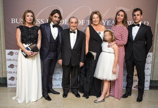 Maía José Hidalgo, Javier Hidalgo, Juan José Hidalgo, Eloína Gutiérrez, Lucía Blanco Hidalgo, Cristina Hidalgo y Javier Blanco