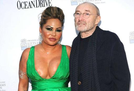 Orianne Cevey y Phil Collins