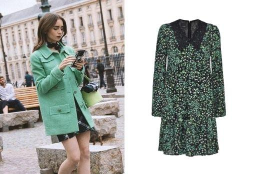 Floral dress with lace collar, by Pinko.  Price: € 125