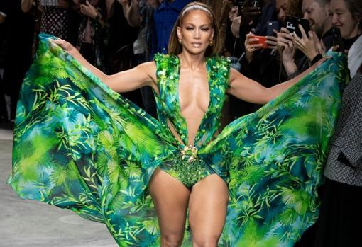 Jennifer Lopez at the Versace Fashion Show September 2019