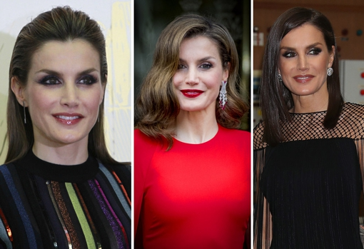The most striking makeup of Doña Letizia.