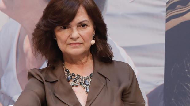 Carmen Calvo en el encuentro de este lunes