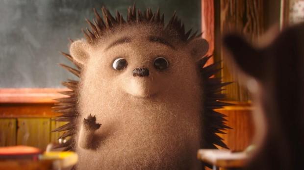 El erizo, protagonista del anuncio navideño sobre el acoso escolar.