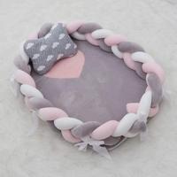 Braided baby crib bumper