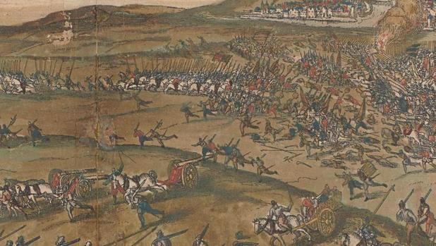 la batalla de Gembloux por Frans Hogenberg