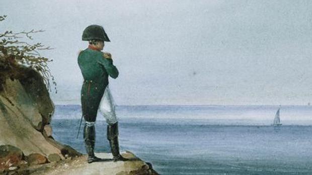 Napoleón en Santa Elena, por Francois-Joseph Sandmann