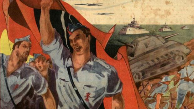 Portada del cómic «Flacha» de bando franquista durante la Guerra Civil