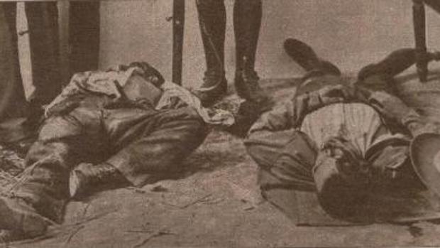 Imagen publicada en la prensa de dos de las víctimas de Gilena
