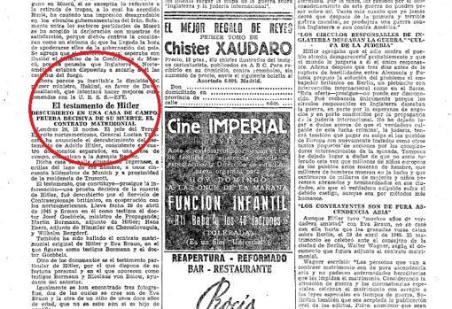 Página del diario ABC del 30 de diciembre de 1945