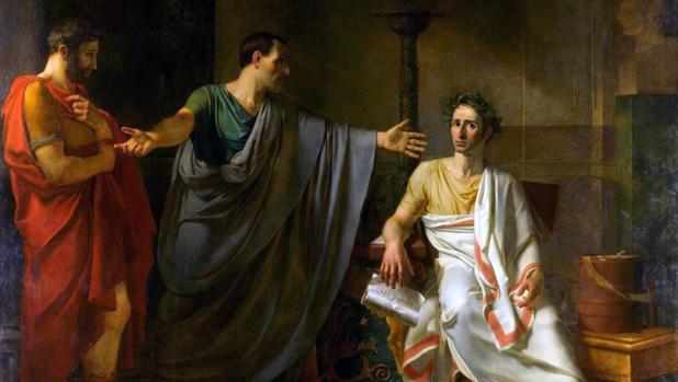 La clemencia de César, por Abel de Pujol, 1808