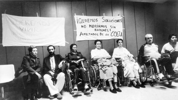 Afectados por la colza en el Hospital Primero de octubre (1983)