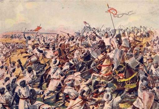 Representación de la batalla