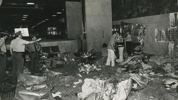 Minutos después del atentado en el aeropuerto de Madrid-Barajas
