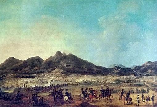Cuadro de la batalla de Le Boulou, derrota española ocurrida en mayo de 1794 con Ricardos ya fallecido