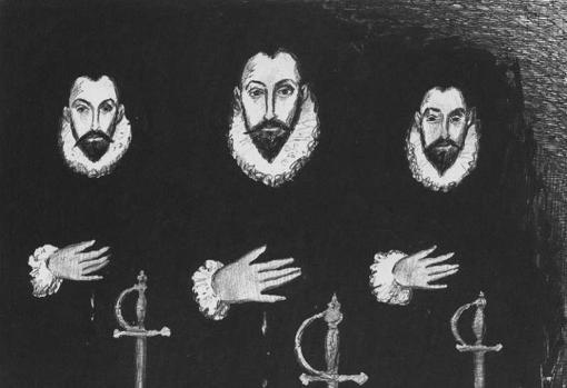 Osso, Mastrosso y Carcagnosso, los tres náufragos españoles