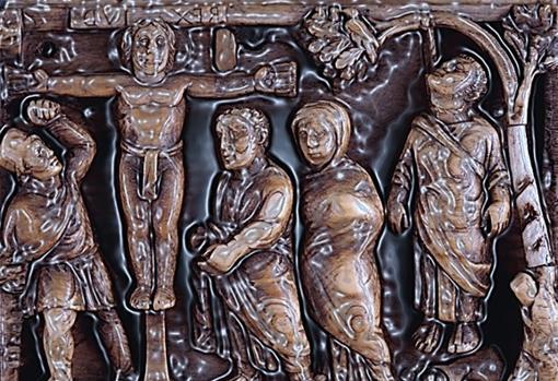 Una de las primeras representaciones que se conservan de Jesús en la Cruz.