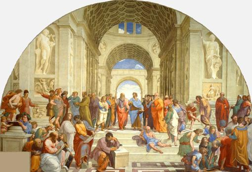 La escuela de Atenas, fresco de Rafael (1509-1510