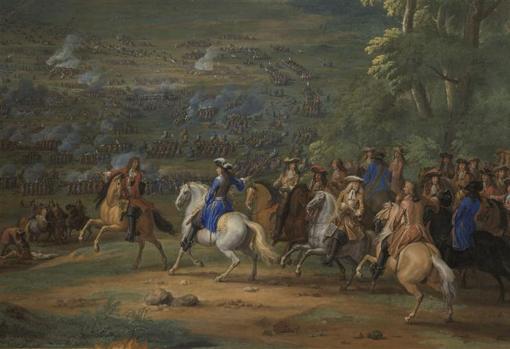 El Duque de Enghien en la batalla de Rocroi.
