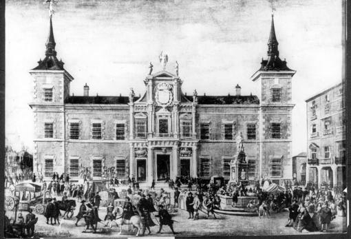Grabado del Palacio de Santa Cruz