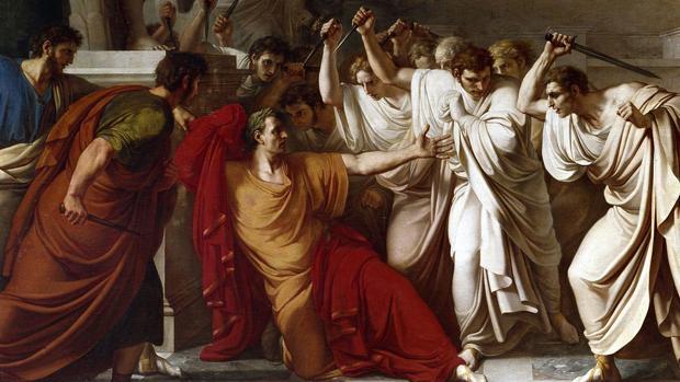 Asesinato de Julio César en el senado de Roma