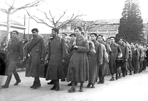 Miembros de la División Azul, en 1943