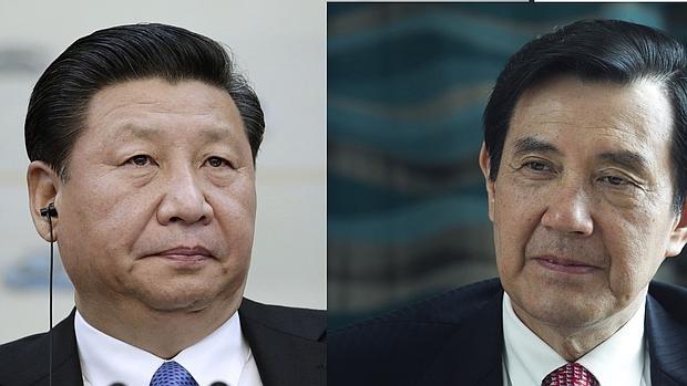 El presidente de China Xi Jinping, y el presidente taiwanés Ma Ying-jeou