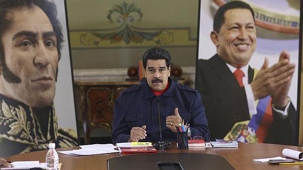 Maduro, en el palacio de Miraflores