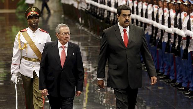 Raúl Castro y Nicolás maduro en la Habana