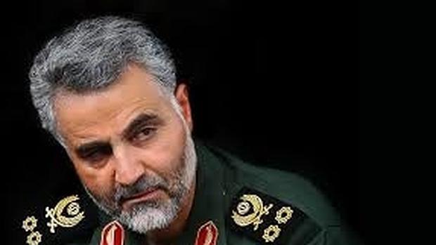 Primer plano del general Qasem Soleimani, líder de la fuerza iraní de élite Quds