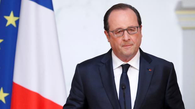 El presidente francés, François Hollande, durante un a rueda de prensa