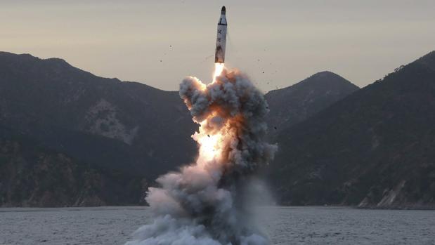 Imagen no fechada de un ensayo en Corea del Norte (Facilitada por la agencia de noticias de Corea del Norte)