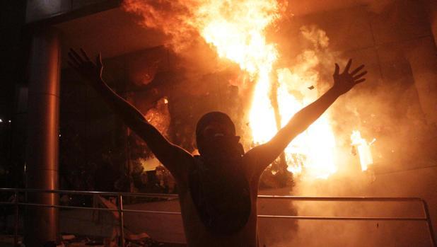 Disturbios en Paraguay