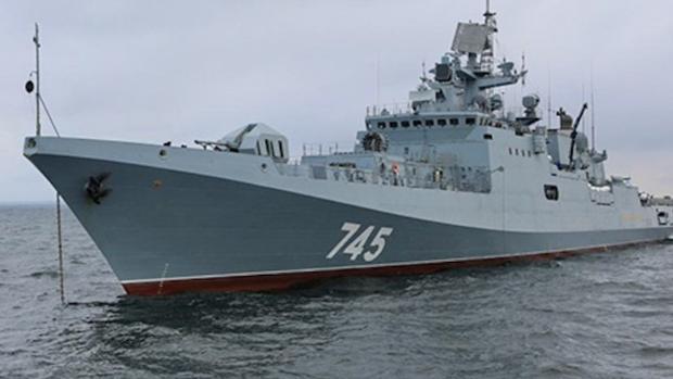 La fragata rusa Almirante Grigorovich.