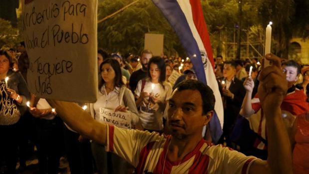 Protestas este mes en Paraguay contra una enmienda constitucional que permite la reelección presidencial