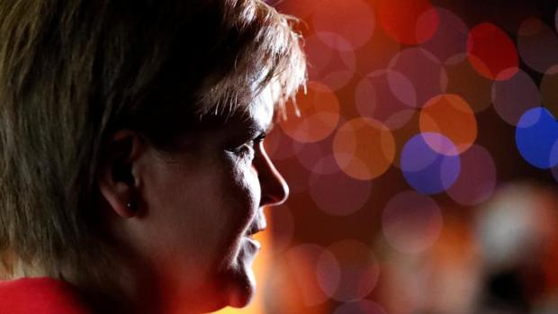 Nicola Sturgeon, durante un acto este lunes en Aviemore, Escocia