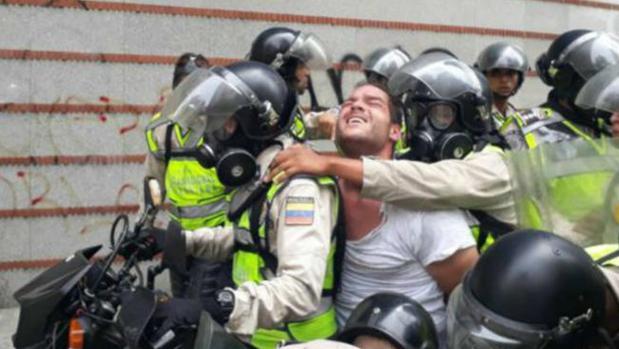 Sergio Contreras, en el momento de ser detenido