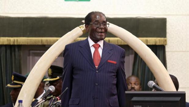 Robert Mugabe, durante su mensaje anual a la nación, el pasado diciembre