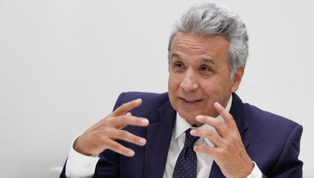 Lenín Moreno, presidente de Ecuador, durante la entrevista con ABC