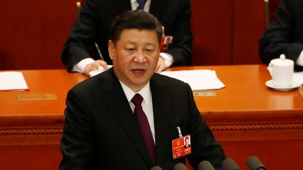 El presidente chino, Xi Jinping, durante la reunión de la Asamblea Nacional Popular