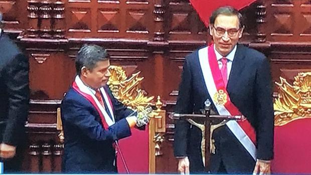 Martin Vizcarra, tras jurar su cargo como nuevo presidente de Perú