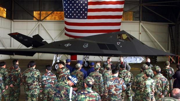 Militares estadounidenses en en la base Kun San en Seúl