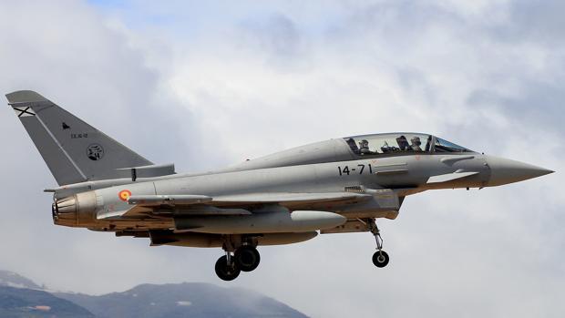 Un avión de combate Eurofighter