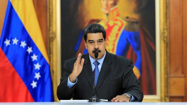 El presidente venezolano, Nicolás Maduro, durante una reunión en el Palacio de Miraflores