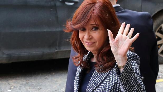 La expresidenta de Argentina a su salida del Tribunal Federal de Buenos Aires