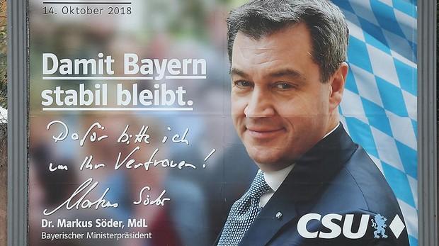 Cartel electoral de la CSU